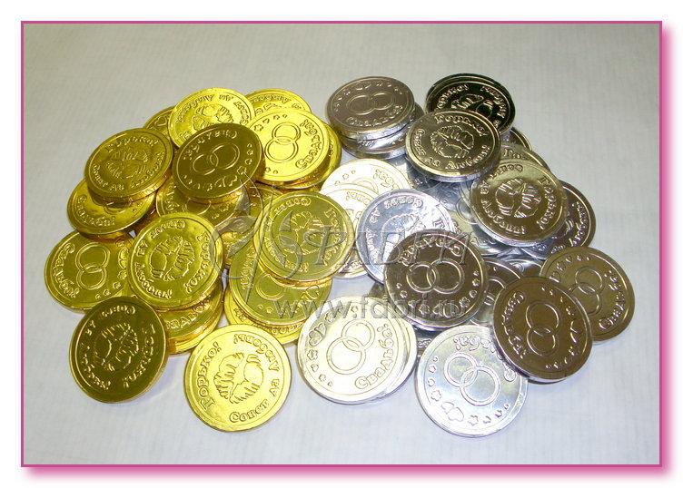 Монеты из шоколада своими руками